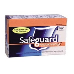 Safeguard Anti-Bacterial Hand Bar Soap, 4-oz.