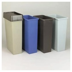 Swing Top for Slim Jim Waste Containers, Gray