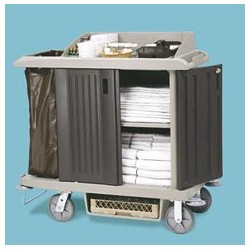 XTRA Compact Size Housekeeping Cart with Doors
