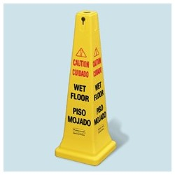 Safety Cone. Base Size 10-1/2 sq. x 25-3/4h