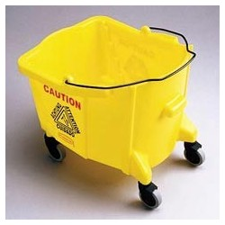 Brute 26-35 Quart Mop Bucket, Yellow