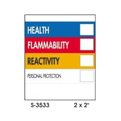 "2""x 2"" HMIS D.O.T. Safety Labels"