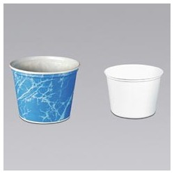 Double Wrapped Paper Bucket, Unwaxed, White, 83-oz.