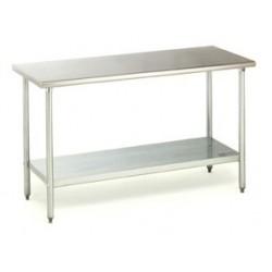 """Work Table, 30""""W x 72""""L, 16 ga type 430"""
