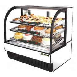 "Curved Glass Refrigerated Bakery Case, 50""L"