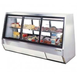 Double Duty Deli Case, pass-thru, 46 cu. ft., Low
