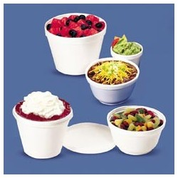 Foam Containers, 8-oz. Squat