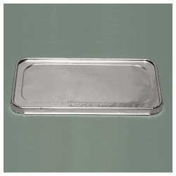 Aluminum Formed Steam Table Pan Lid. Half-Size. 100 Lids per Case