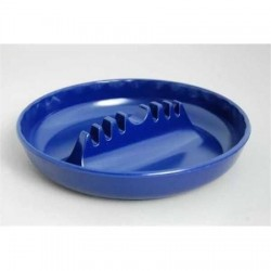 "7"" x 1 1/2"" Round Plastic Safety Ashtrays (Colors)"