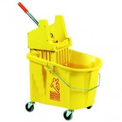MopBucket with Down Pressure Wringer Combo, 35-Qt