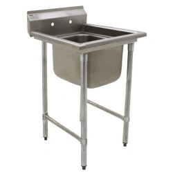 Eagle 1-Hole Sink, NSF, No Drainboards, Deep Drawn