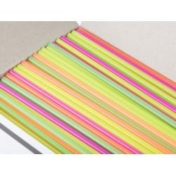 "Plastic Collins Straws, 7-3/4"""
