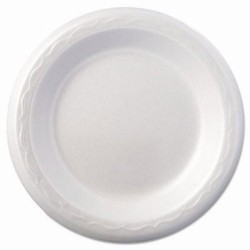 "6"" China Foam Dessert Plates, White"