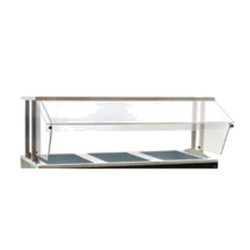 """Buffet Shelf, 48"""", with sneeze guard on one side"""