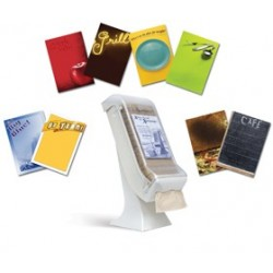 Xpress Napkin Dispenser & Stand, Clear/Granite