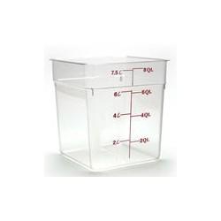 Cambro Storage Container 8 qt. Square, Clear