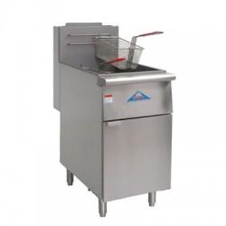 Value Series Deep Fryer, Gas, 80-lb., SS Frypot