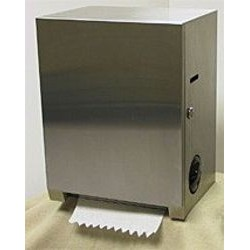 Surface-Mounted Roll-Paper-Towel Dispenser, S.S.