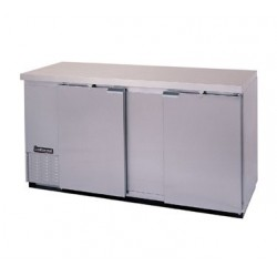 "Backbar Cooler, 69"", 2-Door, Stainless Steel Exterior"