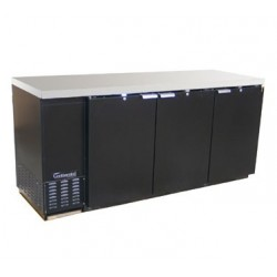 "Backbar Cooler, 79"", 3-Door, Black Exterior"